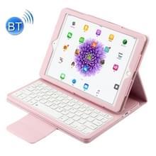 Voor iPad Pro 9 7 inch / iPad Air 2 / iPad Air /iPad 9 7 (2018) & iPad 9 7 (2017) Afscheidbare in contracten ABS Bluetooth Keyboard + Litchi textuur horizontale Flip lederen draagtas met Holder(Pink)