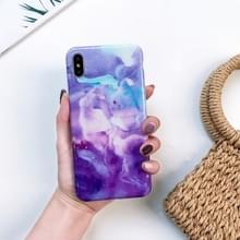 Volledige dekking glanzende marmer textuur Shockproof TPU Case voor iPhone XR