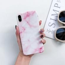 Volledige dekking glanzende marmer textuur Shockproof TPU Case voor iPhone X / XS