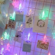 3m kleurrijke lichte stervorm foto Clip LED Fairy String licht  20 LEDs USB aangedreven ketens van decoratieve licht Lamp voor thuis hangende figuren  DIY Party  bruiloft  Kerstdecoratie (kleurrijke Light)