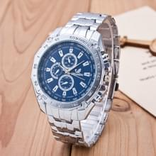 3 pak mannen Business Strip Watch Quartz horloge (kleur: blauw)