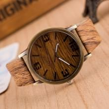 3 pak viercijferige hout imitatie horloges voor mannen en vrouwen