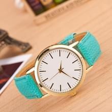 3 pak marmer en gouden riem horloges (kleur: Mint groen)