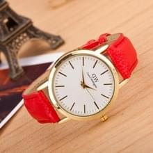 3 pak marmer en gouden riem horloges (kleur: rood)