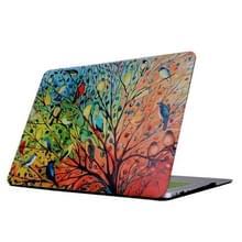 Macbook Pro 13.3 inch (2011 - 2012) A1278 / MD313 / MC724 / MD101 / MD314 / MD102 Kleurrijk boom en vogels patroon beschermende Cover