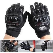 Een paar beschermende motorfiets van Pro-BIKER MCS - 01 C ademend Wearable volledige vinger handschoenen Outdoor sporten houd warme handschoenen  maat: M(20-22cm)(Black)