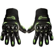 Een paar Cyclegear CG666 One-touch ademend Wearable volledige vinger beschermende buiten motorfiets handschoenen  maat: L(Black+Green)