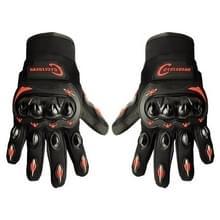 Een paar Cyclegear CG666 One-touch ademend Wearable volledige vinger beschermende buiten motorfiets handschoenen  maat: L(Black+Red)