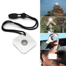 Multifunctionele Survival noodhulp reflecterende signaal spiegel wandelen buiten Tool met fluitje