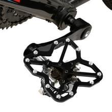Enkele weg fiets Universal Clipless aan pedalen Platform Adapter voor fiets MTB schoenen  grootte: Large(Black)