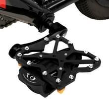 2 stk Clipless Adapter fiets pedaal Adapters + 2 PCS SPD-SL schoenplaatjes fiets pedalen Platform Adapters met Road Klang  grootte instellen: Large(Black)