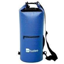 Dtudao buiten waterdichte droge tas Dry Sack met dubbele schouderriem & fles houder, capaciteit: 30L(Blue)