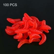 100 stuks 21mm simulatie brood aas wormen  willekeurige kleur levering