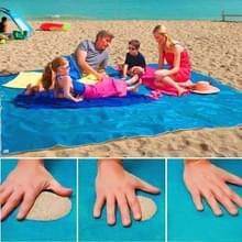 Sand Free Mat Lightweight Foldable Outdoor Picnic Mattress Camping Cushion Beach Mat  Size: 2x1.5m(Blue)