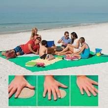 Zand gratis Mat lichtgewicht opvouwbare buiten picknick matras Camping kussen strand Mat  maat: 2x2m(Green)