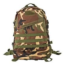 INDEPMAN DL-B001 Fashion Camouflage stijl mannen Oxford doek rugzak schouders zak 40 L buiten wandelen Camping reizende tas 3D tactische pakket met uitgebreide MOLLE & magische Sticker & verstelbare schouderriem  formaat: 51 x 42 x 22 cm (Woodland Camoufl