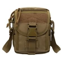 INDEPMAN DL-B020 Fashion Army Style Oxvoord kleding Tactical Package Crossbody Bag Shoulder Sling Bag Hand Bag Messenger Bag, Size: 17 x 15 x 8 cm(Khaki)