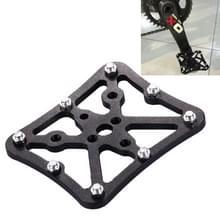 Enkele weg fiets Universal Clipless aan pedalen Platform Adapter voor fiets MTB  grootte: Small(Black)