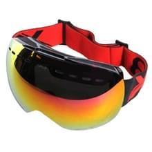 X3 SG-1 dubbele anti-mist Lens Skate Ski Snowboard bril met verstelbare antislip-Strap(Red)