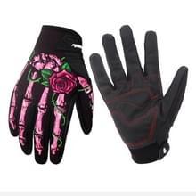 Paardrijden winterhandschoen met Touch Screen functie waterdichte winddicht warme handschoenen  maat: S(Pink)
