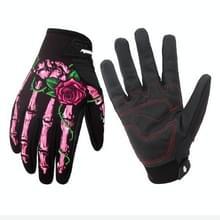 Bevrijden winterhandschoen met Touch Screen functie waterdichte winddicht warme handschoenen  maat: L (roze)