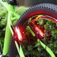 Goofy X7505 USB oplaadbare 5 modi rood en blauw licht COB LED fiets achterlicht