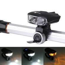 Waterdichte USB oplaadbare 5 modi gele & wit licht 400LM COB LED fiets achterlicht