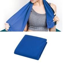 2 PC's Microfiber stof sportschool sport handdoek blijvende ijs handdoek  grootte: 30 * 100cm (donkerblauw)