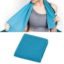 2 PC's Microfiber stof sportschool sport handdoek blijvende ijs handdoek  grootte: 30*100cm(Blue)
