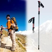 125cm verstelbaar draagbare buiten aluminiumlegering Trekking palen Stick(Red)