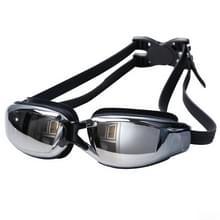 Galvaniseren anti-mist siliconen zwemmen Goggles voor volwassenen  geschikt voor 600 graden Myopia(Black)