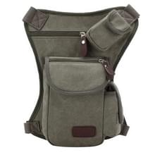 Multifunction Canvas Messenger mobiele telefoon Bags Travel Crossbody Shoulder Waist Bag, Size: 31x24x5cm(Army Green)
