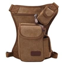 Multifunction Canvas Messenger mobiele telefoon Bags Travel Crossbody Shoulder Waist Bag, Size: 31x24x5cm(Coffee)