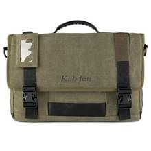 Multifunction Canvas Messenger Laptop Bag Crossbody Shoulder Business Briefhoesje Tablet Bag Hand Bag, Size: 29x44x8.5cm(Army Green)