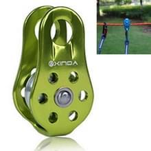 Één vaste katrol alpinisme touwklimmen abseilen Survival Equipment(Green)