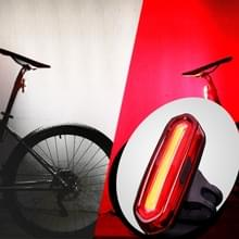 AQY-096 IPX4 afneembare USB oplaadbare Dual Color LED fiets achterlicht (White & rood)