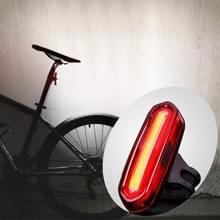 AQY-096 IPX4 afneembare USB oplaadbare één kleur LED fiets achterlicht (wit)