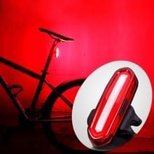 AQY-096 IPX4 afneembare USB oplaadbare één kleur LED fiets achterlicht (rood)
