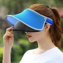 Buiten dubbellaagse vrouwelijke Topless brede rand Hat(Blue)