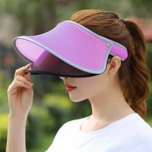 Buiten dubbellaagse vrouwelijke Topless brede rand Hat(Purple)