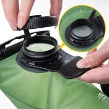NatureHike NH30Y030-D 3L buitensport PEVA drinkwater tas draagbare Eco-vriendelijke blaas hydratatie Folding Waterzak met stro voor fietsen Camping wandelen Climbing(Green)