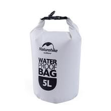 Naturehike 5L Outdoor PVC doek Trekking rivier drijven waterdichte tas ultralichte zwemmen tas (wit)