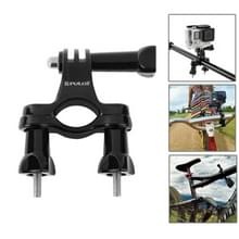 PULUZ 24 in 1 Bike Mount Accessories Combo Kits with EVA Case (Wrist Strap + Helmet Strap + Extension Arm + Quick Release Buckles + Surface Mounts + Adhesive Stickers + Tripod Adapter + Storage Bag + Handlebar Mount + Screws) for GoPro HERO6 /5