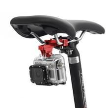 PULUZ aluminiumlegering zetel kussen fietshouder voor GoPro  GoPro HERO 7 / 6 / 5 / 5 session / 4 session / 4 / 3+/ 3 / 2 / 1  Xiaoyi en andere actie-Cameras(Red)