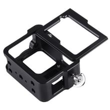 PULUZ for GoPro HERO6 /5 Housing Shell CNC Aluminum Alloy Protective Cage with Insurance Frame & 52mm UV Lens(Black)