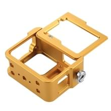 PULUZ behuizing Shell CNC Aluminum Alloy beschermende Cage met veiligheids Frame & 52mm UV Lens voor GoPro HERO5(Gold)