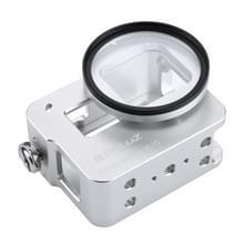 PULUZ behuizing Shell CNC Aluminum Alloy beschermende Cage met veiligheids Frame & 52mm UV Lens voor GoPro HERO5(zilver)