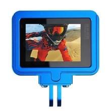 PULUZ behuizing Shell CNC Aluminium Alloy beschermende Cage met beveiligings Frame voor GoPro HERO5(blauw)
