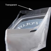 10 PCS PULUZ 33cm x 23.5cm Hang Hole Clear Front White Pearl Jewelry Zip Lock Packaging Bag(Size: XL)
