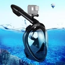 PULUZ 260mm Tube Water Sports Diving Equipment Full Dry Snorkel Mask  for GoPro HERO6 /5 /5 Session /4 Session /4 /3+ /3 /2 /1  Xiaoyi and Other Action Cameras  L/XL Size(Black)